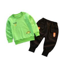 Сезон весна осень; Детская одежда из хлопка для маленьких мальчиков
