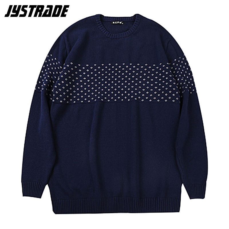 Mens Oversized Sweater Harajuku Long Sleeve Pullover Winter Warm Pullover Knitted Autumn Loose Korean Clothes Vintage Streetwear