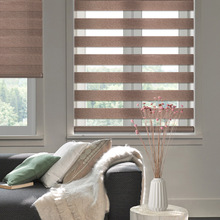 New Arrival Silk linen Double-layer Zebra Blinds Aluminum Alloy Dustproof Cover For Office Bathroom Living Room Customize Size