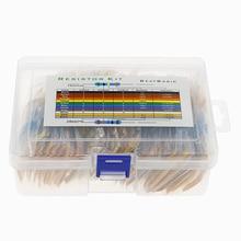 860 pçs/caixa 86 valores * 10 pces 1% 1/2w conjunto de pacote resistor filme de metal diy kit uso colorido resistência ao anel (0.1 ohms o10 m ohm)