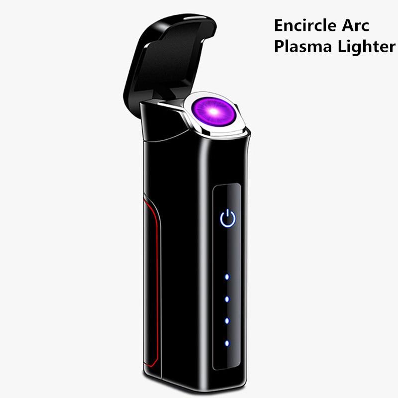 Encircle Arc Plasma Lighter 800mAh Removable Big Battery Usb Lighter Windproof Rechargeable Cigarette Lighter