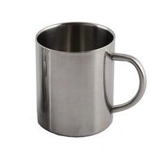 Кружка из нержавеющей стали, чашка, портативная, с изоляцией, 220 мл, 300 мл, 400 мл, на открытом воздухе, для путешествий, стакан для кофе, чая, воды, чашки с ручкой#734