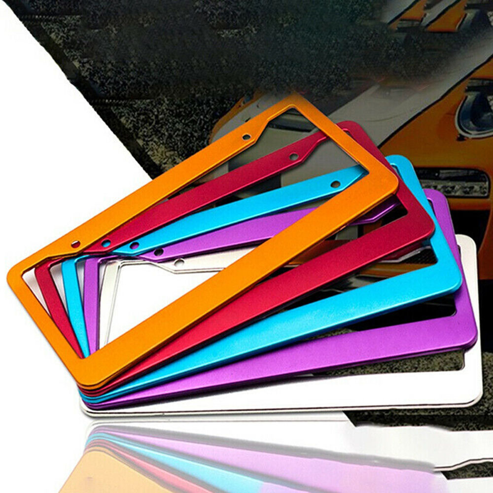 Hot Sale Universal US Car Aluminum License Plate Frame Cover Auto Accessory Waterproof Durable And Practical