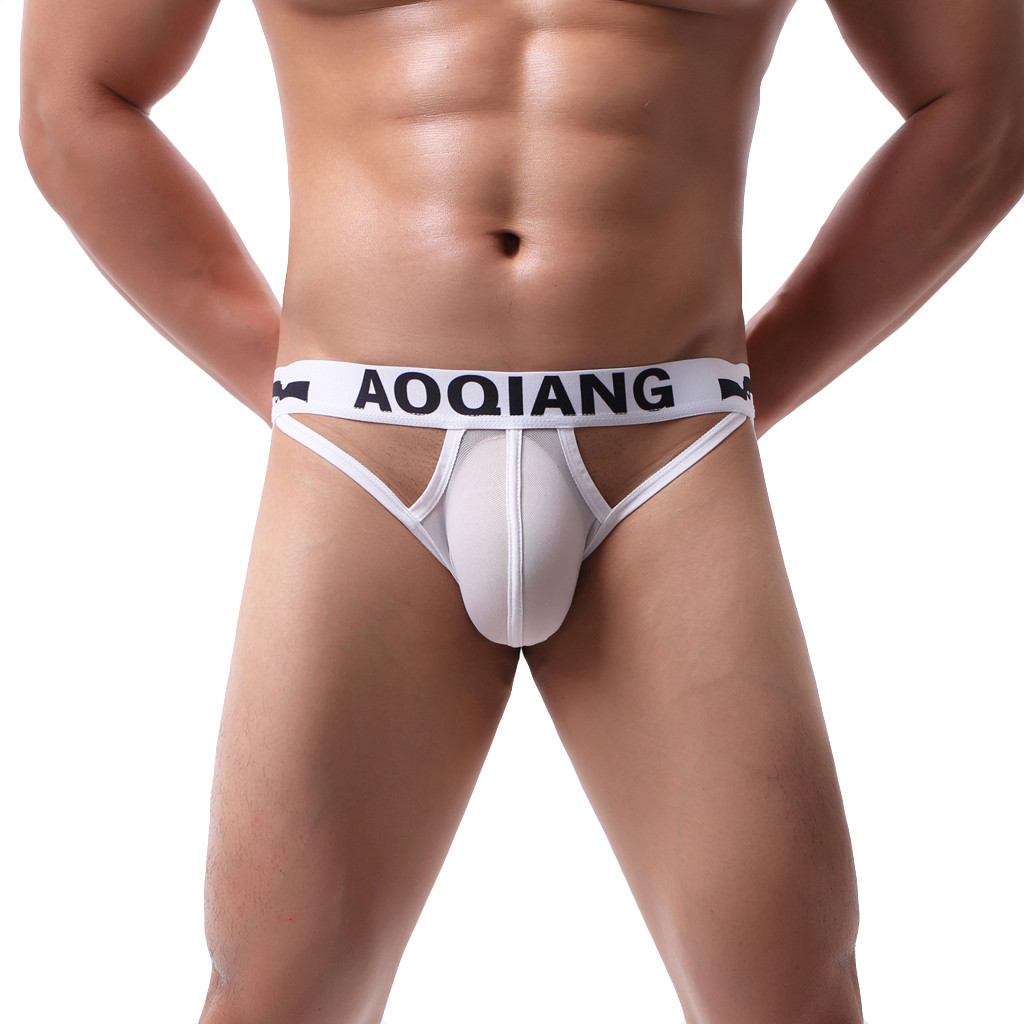 Gay Underwear Mesh Sexy Underwear After Empty Breathable Comfort Sexy Underpants String Homme Jockstrap Ropa Interior Hombre Gay