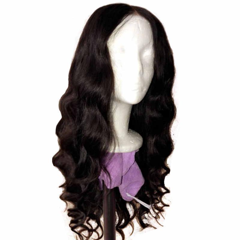 Brazylijski luźna fala 4x4 zamknięcie koronki peruki dla czarnych Woman13x4 Frontal ludzkie dziewicze włosy peruka niestandardowe peruki wstępnie oskubane 180% 250%