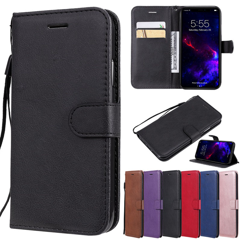 Retro Flip Case For Moto G8 G7 G6 G5 G5S G4 E7 E6 E5 E4 P30 One Power Play Plus Phone Bag Leather Wallet Stand Back Cover