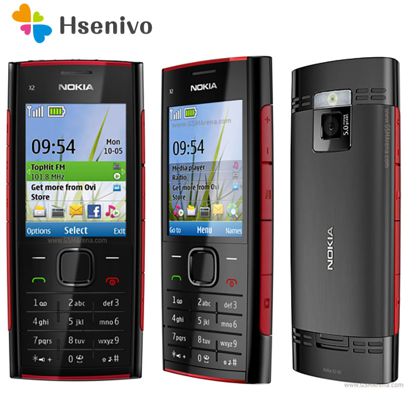 X2 Original Nokia X2-00 phone Bluetooth FM JAVA 5MP Unlocked Mobile Phone with English/Russia/Hebrew/Arabic Keyboard Free shipp image