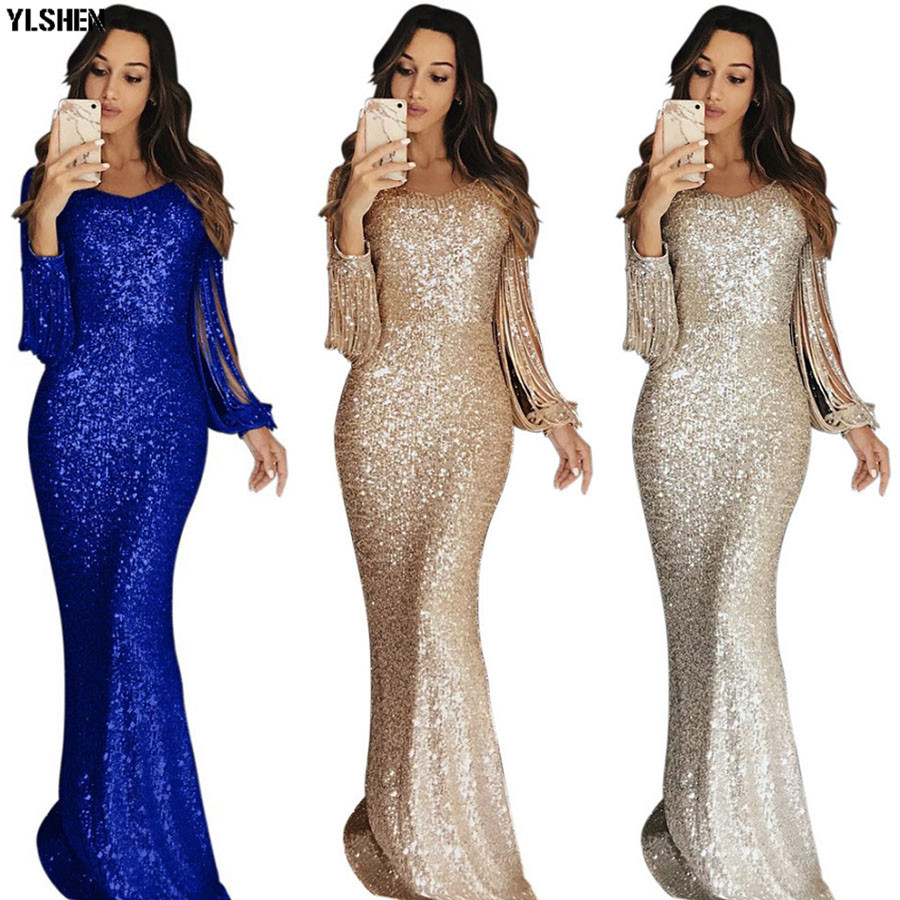 Christmas African Dresses For Women Dashiki Long Maxi Dress Bazin Riche African Clothing Tassel Sleeve Dresses Africa Clothes