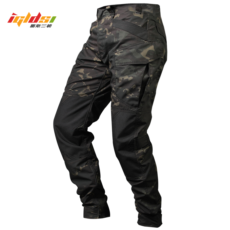 Men's Jogger Tactical Pants Camouflage Military Cargo Sweatpants Loose Camo Casual Long Trousers Joggers Pantalones Tacticos
