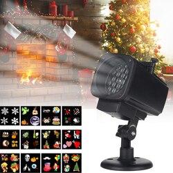 12 wzór boże narodzenie LED animacji lampa projekcyjna ogród światła wodoodporna boże narodzenie lampa projektora na ślub Xmas Decor w Oświetlenie sceniczne od Lampy i oświetlenie na