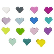 10Pcs/Lot Heart Shaped Beads Baby Teething Food Grade Silicone Teethers