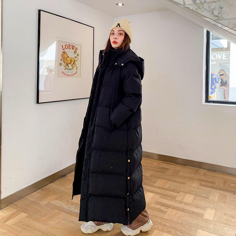 Новая зимняя куртка с капюшоном, Женская парка, теплая Толстая длинная хлопковая куртка, женское Свободное пальто оверсайз с капюшоном, Женское зимнее пальто, верхняя одежда|Парки| | АлиЭкспресс