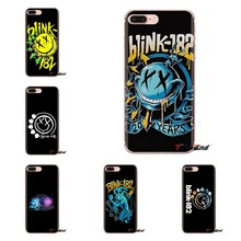 Blink 182 Smiley Face Band Logo Soft Transparent Shell Covers For Samsung Galaxy A3 A5 A7 A9 A8 Star A6 Plus 2018 2015 2016 2017(China)