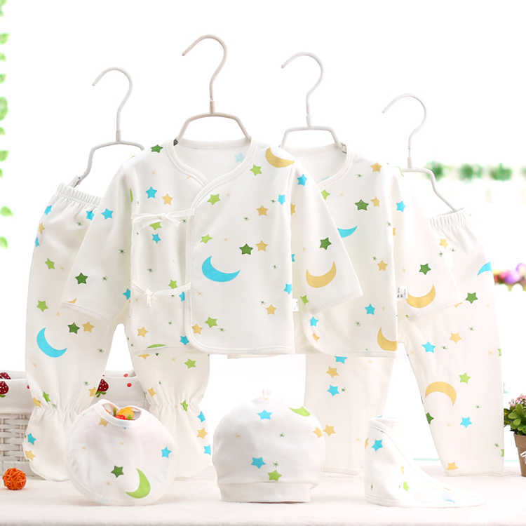 Infant All Seasons New Style Newborns Set Clothes For Babies Pure Cotton Newborn Baby Underwear Seven Sets