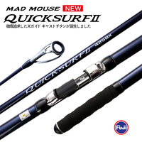 NEW MADMOUSE QUICK SURF 425BX 3 Section Fuji Parts Spiral X Carbon Surf Fishing Rod Sinker 100 300g 4.25m Surf Spinning Rods