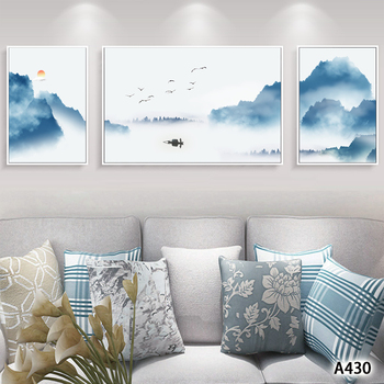 Modern Abstract Oil Painting Print on Canvas 3pcs Chinese Landscape Canvas Art Printing Wall Art Picture for Home Decor