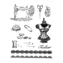 Sewing Transparent Clear Silicone Stamp For DIY Scrapbooking Photo Album Decor