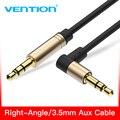 Vention Cable auxiliar 3,5mm Jack Cable de Audio 90 grados ángulo recto 3,5 Cable auxiliar para coche iphonephone beats altavoz MP3/4 Cable auxiliar