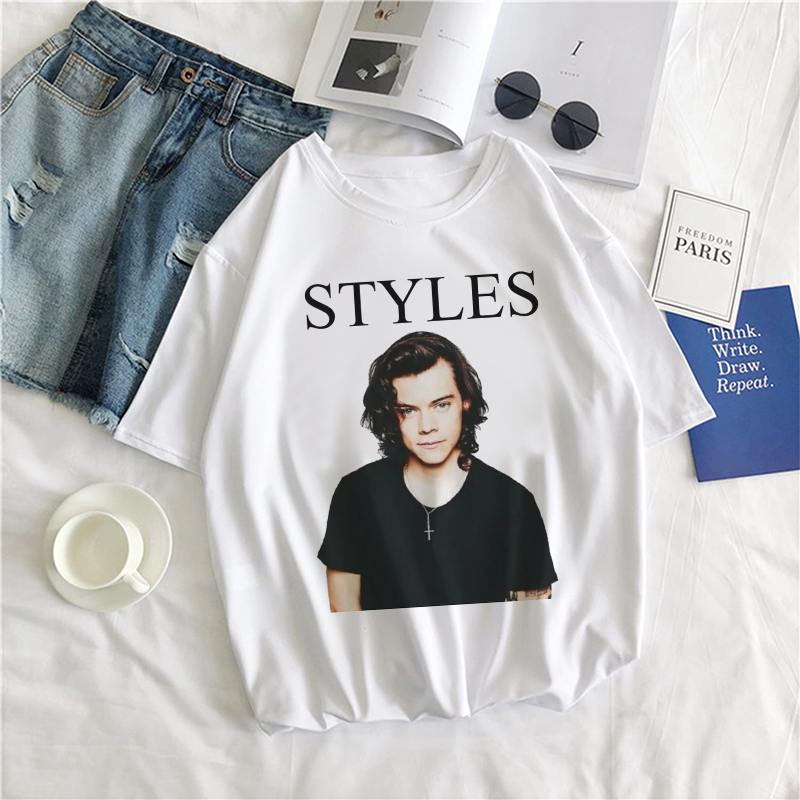 2020 Harajuku Fine Line RipT-shirt Unisex Geek Hip-hop <font><b>Tshirts</b></font> Funny <font><b>Aesthetic</b></font> Casual Harry Styles Cartoon <font><b>Graphic</b></font> Tops&tee image