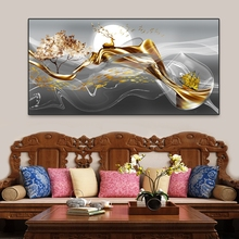 Art Nordic Landscape Abstract Canvas Painting Golden Deer Forest Posters And Prints Wall Art Picture Room Decoration Home Decor laeacco nordic oil painting abstract forest landscape canvas posters and prints wall art canvas painting modern room decoration