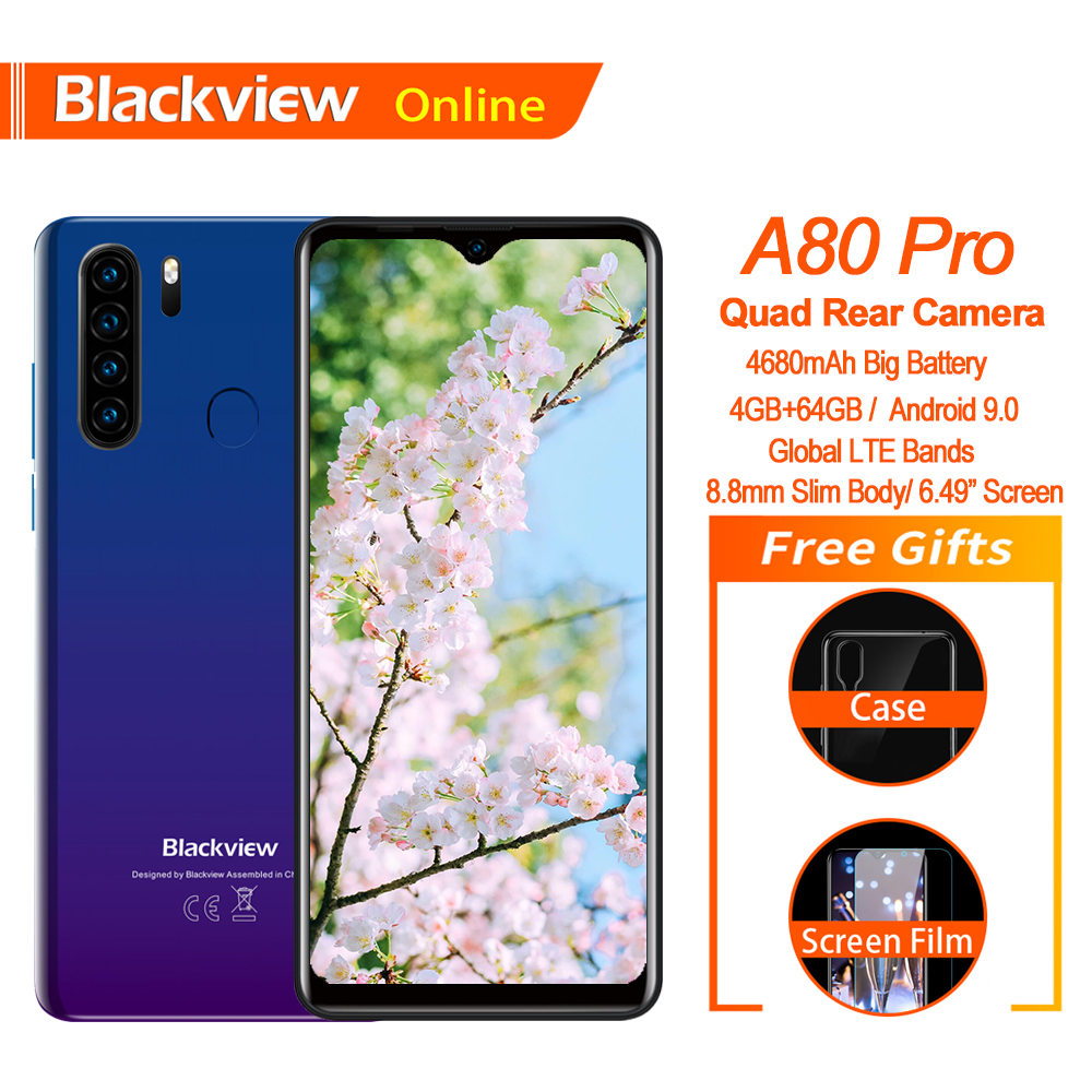 Blackview A80 Pro Quad 64GB 4gbb WCDMA/GSM/CDMA/LTE Deca Core Fingerprint Recognition/face Recognition