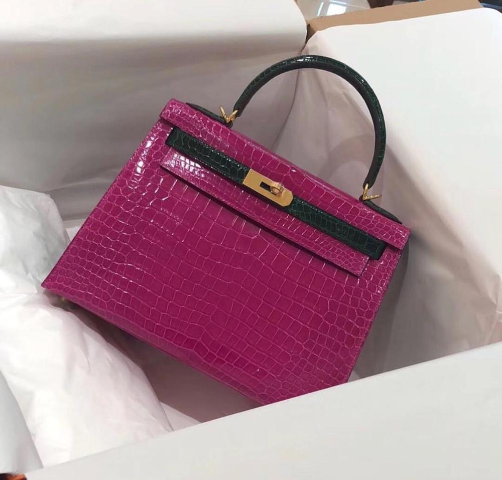 Ladies Handbags Shoulder-Bag Highest Quality Fashion Luxury Brand Famous 28CM The 100%Leather