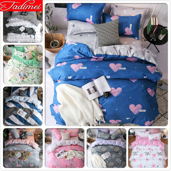 New Creative Fashion Quilt Duvet Cover 3/4 pcs Bedding Set Adult Kids Soft Cotton Bed Linen Single Full Queen King Size 150x200