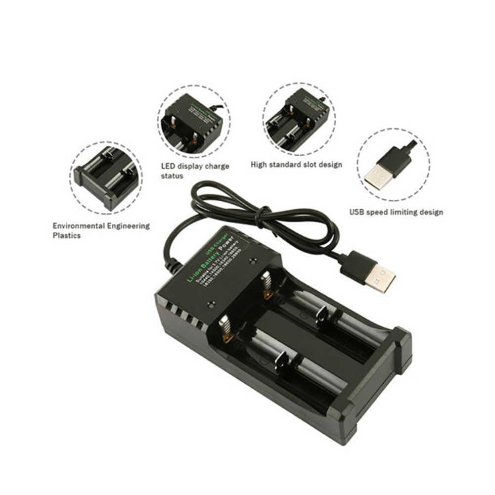 2019 バッテリー充電器ユニバーサル電源銀行 18650 リチウムイオン充電デュアル USB インテリジェント携帯用品ケース充電式電池