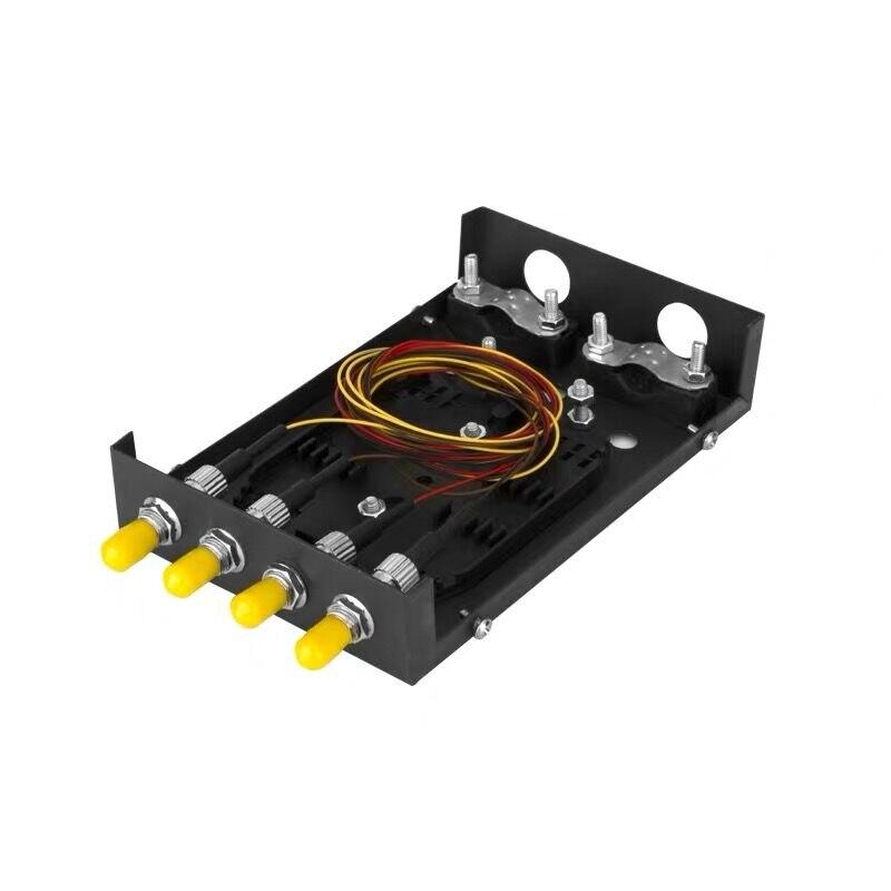 Fiber Optic Terminal Box 4 Core Desktop Type ST /UPC With Adapter