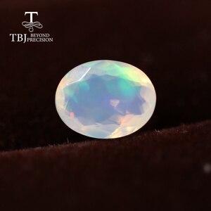 Натуральный Эфиопский цветной опал Овальный 6*8 мм Высокое качество натуральные драгоценные камни для серебра 925 пробы DIY ювелирные изделия