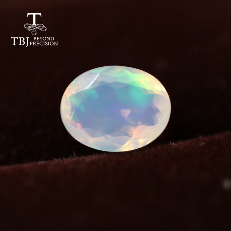 Natural ethiopian colorful cuting opal oval 6*8mm top quality natural precious gemstones for 925 sterling silver DIY jewelry