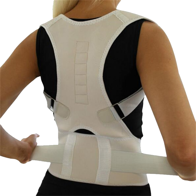 Ajustável ortopédico volta postura suporte cintas cinto corrector postura magentic corrector de postura de ombro cinto de apoio