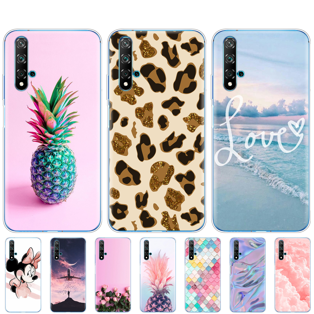 Silicon Case For Huawei Nova 5T Case Bumper Soft TPU Phone Cover For Nova5T 5 T YAL-L21 6.26'' Painting Coque Back Protective