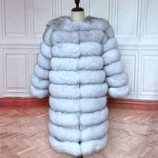 2020 Real Fox Fur Coat Women Natural Real Fur Jackets Vest  Winter Outerwear Women Clothes 6