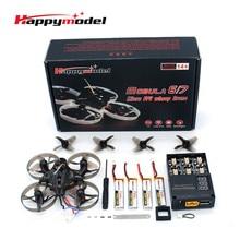 Happymodel Mobula7 V2 75mm 2S RC FPV Racing Drone c / 5.8G VTX AIO Camera Crazybee F4 Pro Flight Controller & 5A 4 em 1 ESC