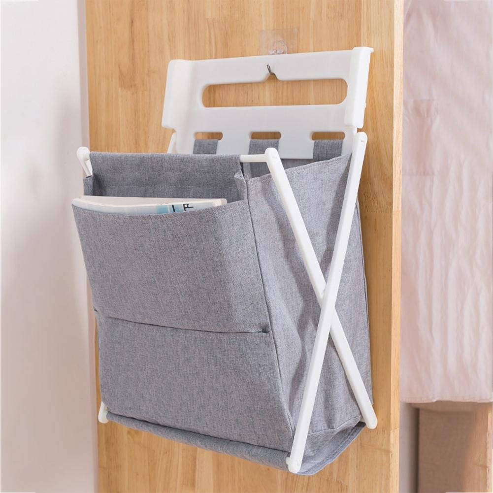 Folding Laundry Basket Dirty Clothes Storage Basket Fabric Rattan Container Wall Hanging Home Organizer Clothes Storage Box