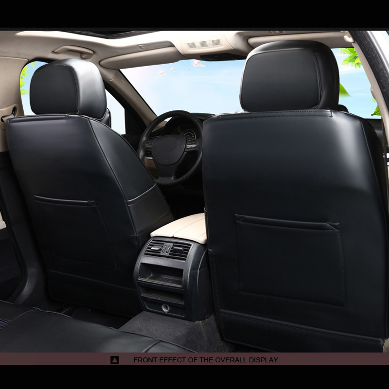 Front PAIR of Beige//Black LEATHER LOOK Car Seat Covers KIA SPORTAGE