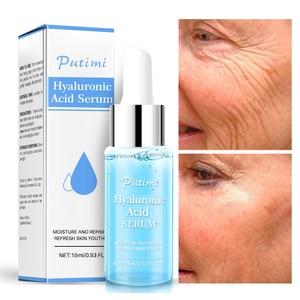 Image 5 - PUTIMI hyaluronik asit yüz serumu nemlendirici, anti kırışıklık Anti Aging kollajen gözenekleri küçültmek yüz özü beyazlatma yüz kremi