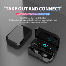 Bluetooth Earphone Wireless Headset with Charging Box Waterproof HIFI In-Ear Sport Earbuds Gaming Headphone for Smart Phone
