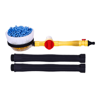 New Rotating Car Wash Brush with Soap Reservoir Spray Water Window Cleaner Home Cleaning Tool