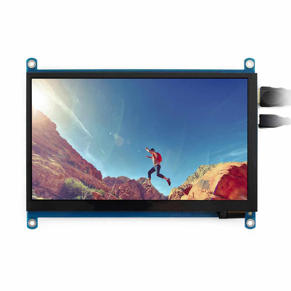 MỚI 7 inch HDMI MÀN HÌNH LCD (H) màn Hình Cảm Ứng điện dung với Kính Cường Lực 1024x600 IPS Hỗ trợ Máy Tính mini làm màn hình