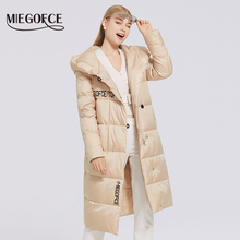 Coat Jacket Parka Women Winter Thick Cotton New Long MIEGOFCE