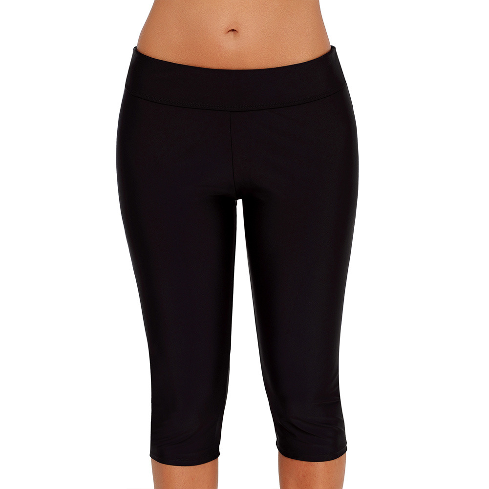 Seaside Beach Swimming Trunks Black And White With Pattern Boxers Diving Surfing High-waisted Capri Beach Shorts Yoga Pants Fore
