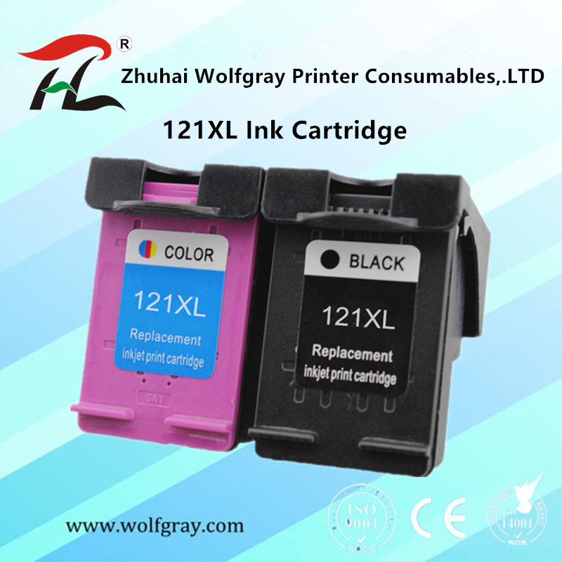 Compatible 121XL Ink Cartridge for <font><b>HP</b></font> <font><b>121</b></font> for HP121 Deskjet D2563 F4283 F2483 F2493 F4213 F4275 F4283 F4583 printer image