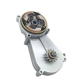 Carcasa de campana de tambor de caja de cambios 14T con embrague ranurado de aluminio, 47cc, 49cc, piezas de modificación de bolsillo para Motor Quad Dirt Bike ATV