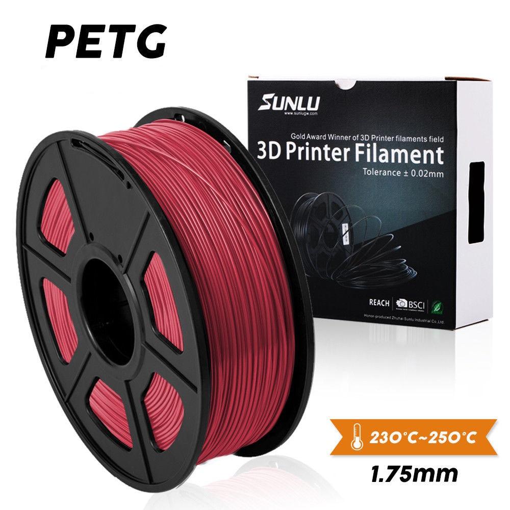 SUNLU PETG 3D Printer Filament 1.75mm 100% No Bubble PETG 3D Filament Tolerance+/ 0.02mm Good For Print Pedant Lamshape 1KG|3D Printing Materials| |  - title=