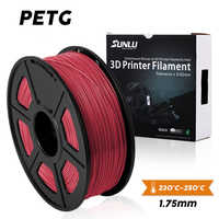 SUNLU PETG 3D Printer Filament 1.75mm 100% No Bubble PETG 3D Filament Tolerance+/-0.02mm Good For Print Pedant Lamshape 1KG