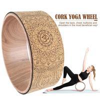Мандала, колесо для йоги, Натуральная пробка, массажное колесо, сгиб спины, Пилатес, круг для йоги, поза, ролик для растяжения, гибкость