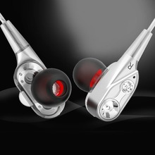 HIFI Stereo Earbuds Hands-free Wired in-earphones Double Unit Driver Super Bass In-ear Earphone with Mic for Running Sports new trn v10 2dd 2ba hybrid earphone hifi in ear earphone 8 driver sport running earphone with mic super bass mmcx earbuds