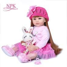 NPK-Muñeca de vinilo reborn de 60cm para niñas, juguete de princesa de silicona, regalo de cumpleaños, edición limitada